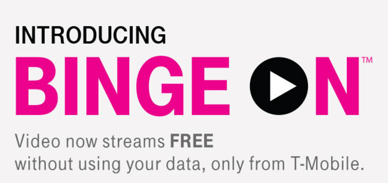 T-Mobile Promotional Material for Binge-On